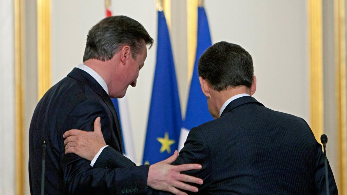 David Cameron a Nicolas Sarkozy