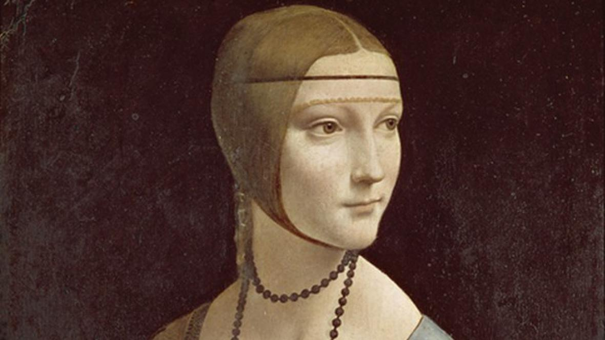 Leonardo da Vinci / Dáma s hranostajem (1489/90)