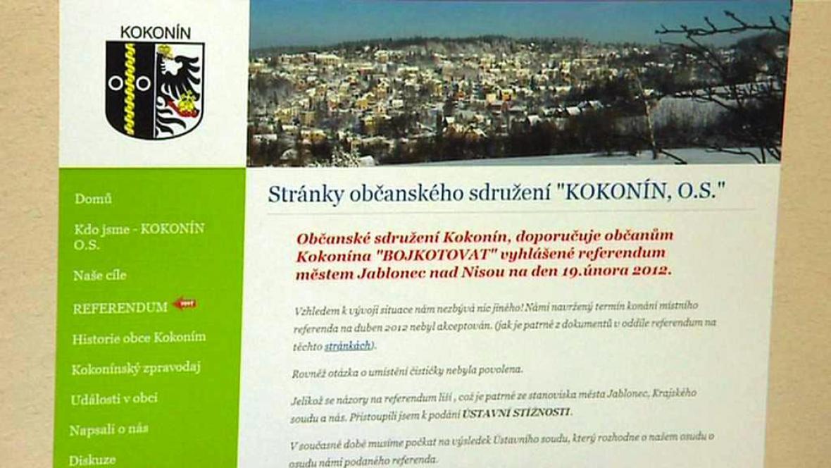Výzva k bojkotu kokonínského referenda