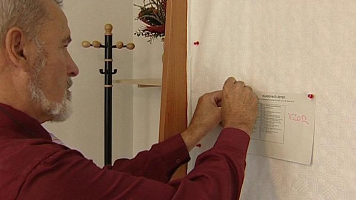 Příprava voleb v Hřensku