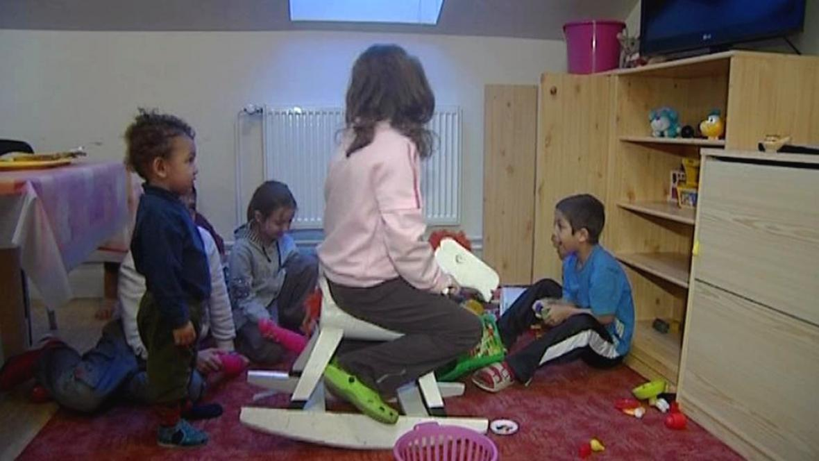 Děti v azylovém domě