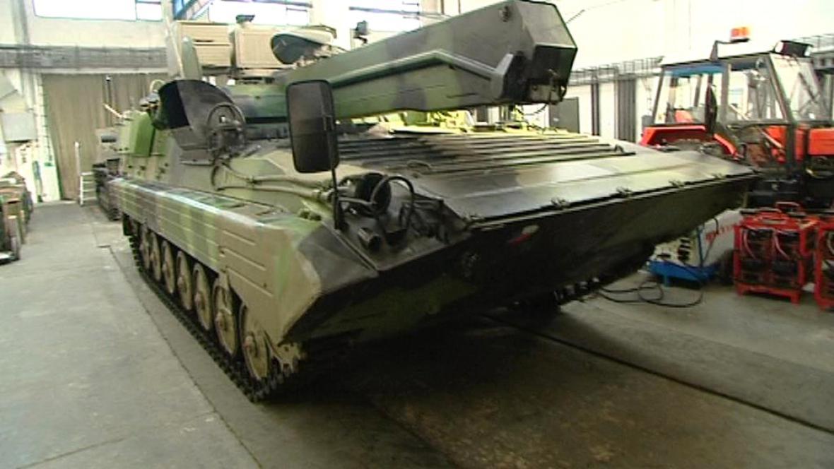 Sklad armádní techniky v Rančířově