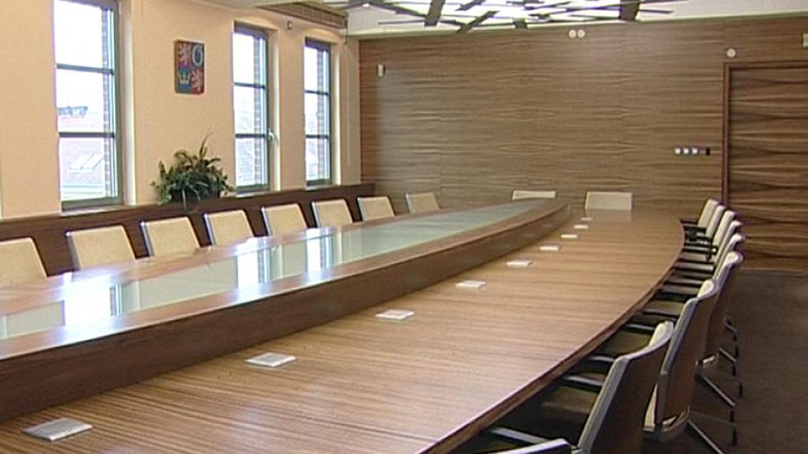 Zasedací místnost na krajském úřadě