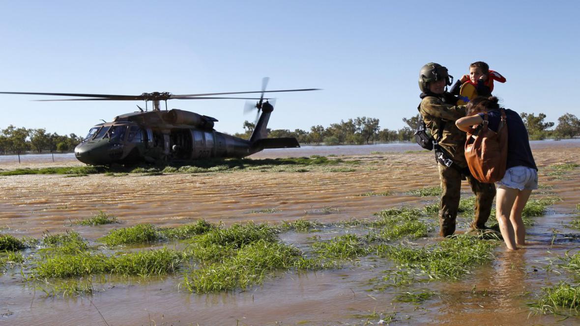 Evakuace v Austrálii