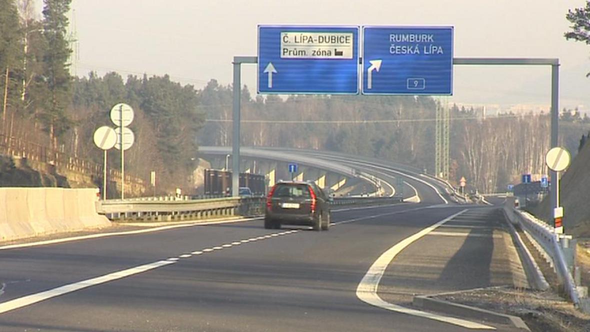 Silnice u České Lípy