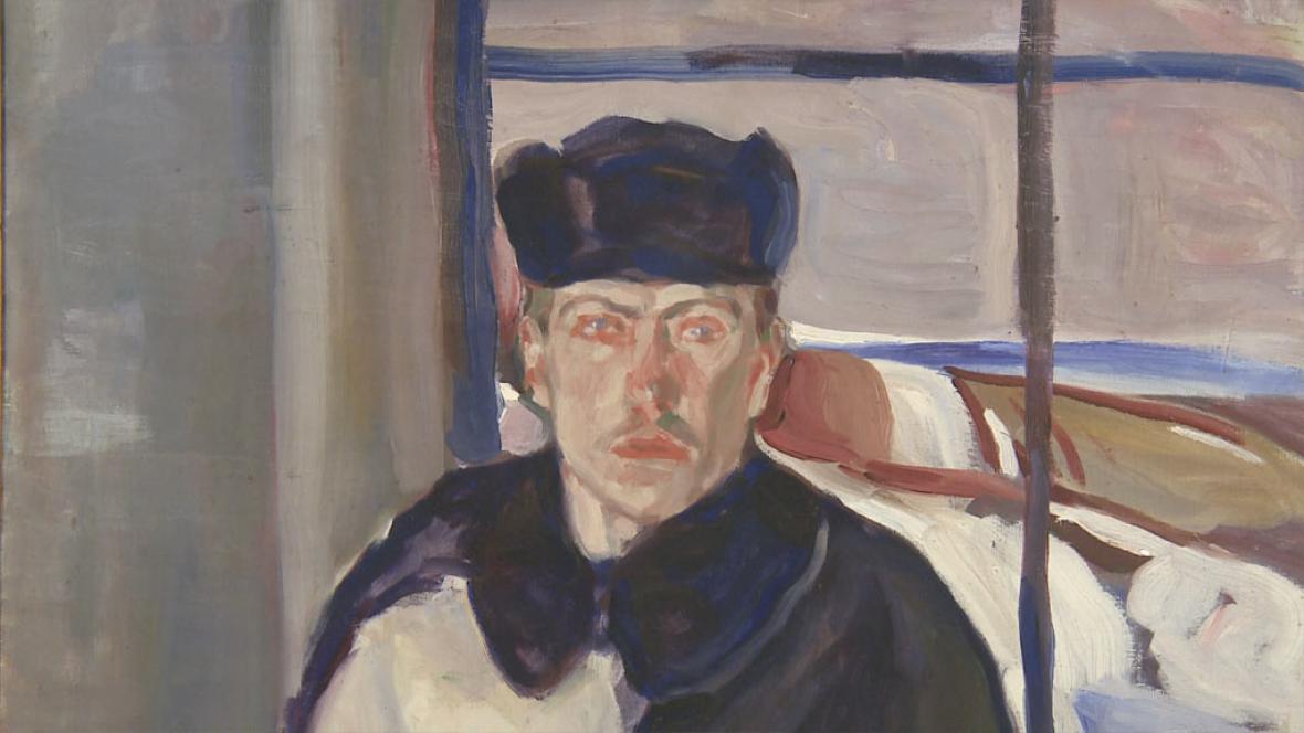 Jindřich Prucha / Autoportrét v zimním šatě