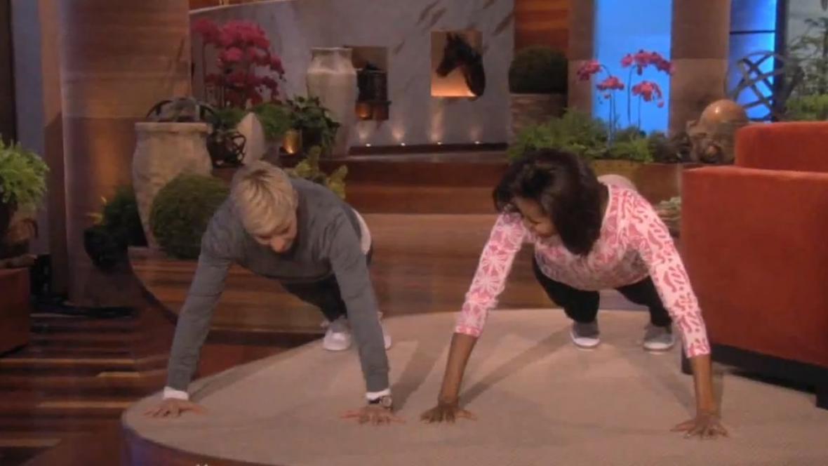 Ellen Degeneresová a Michelle Obamová