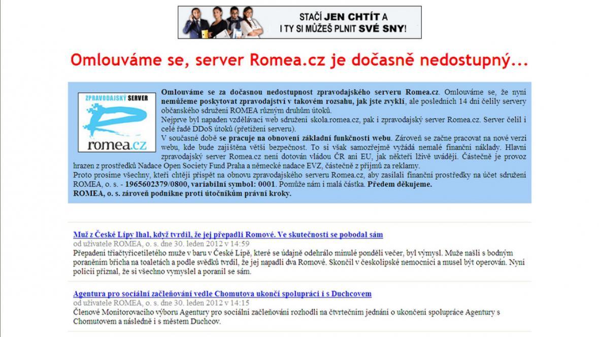 Server Romea byl napaaden hackery