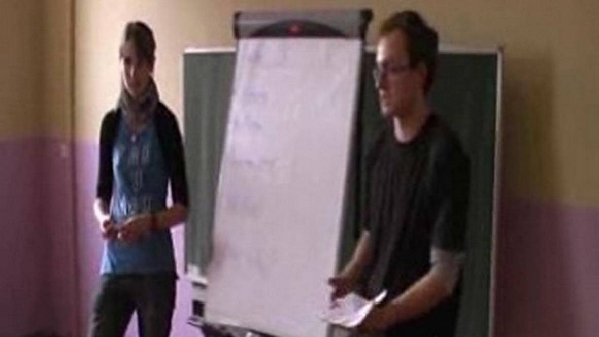 Studenti představují svůj projekt