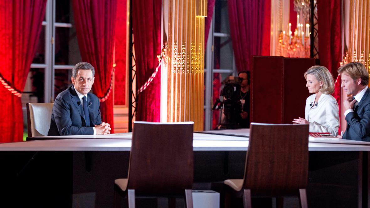 Nicolas Sarkozy v rozhovoru pro francouzskou televizi