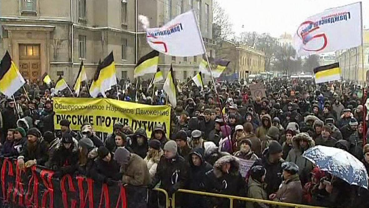Opoziční demonstrace v Moskvě