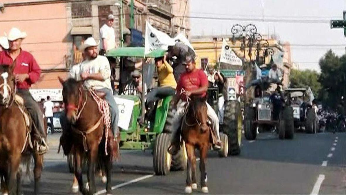 Protest mexických zemědělců
