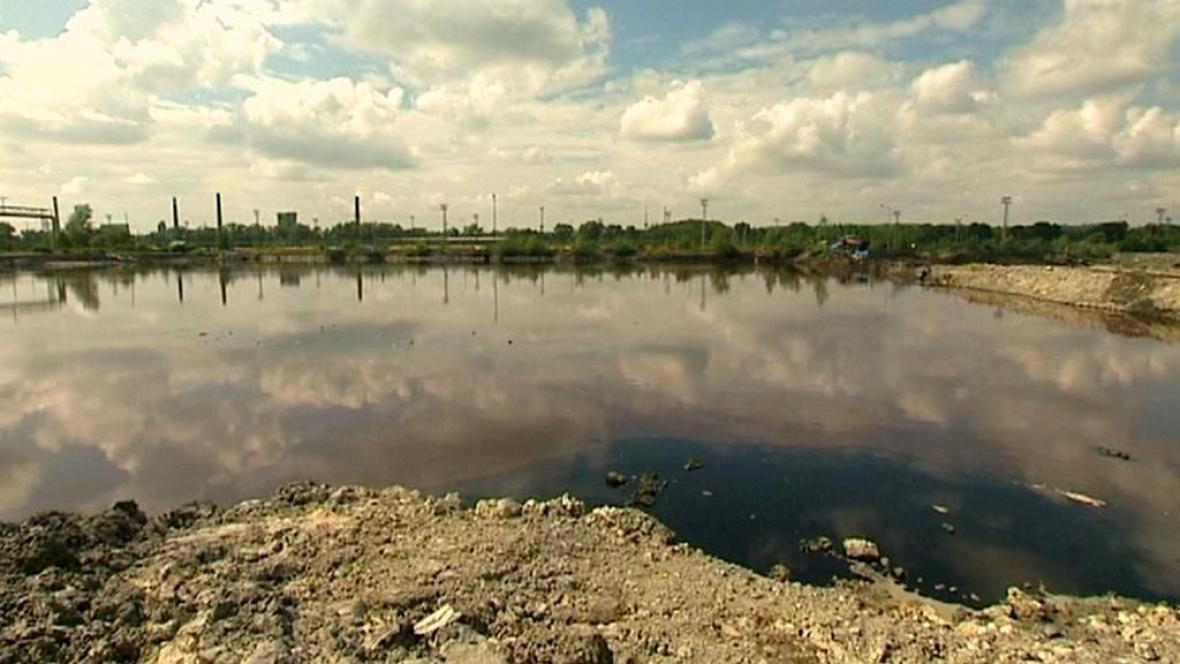 Ropné laguny v Ostravě
