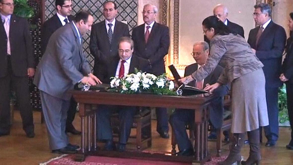 Podpis dohody mezi LAS a Sýrií