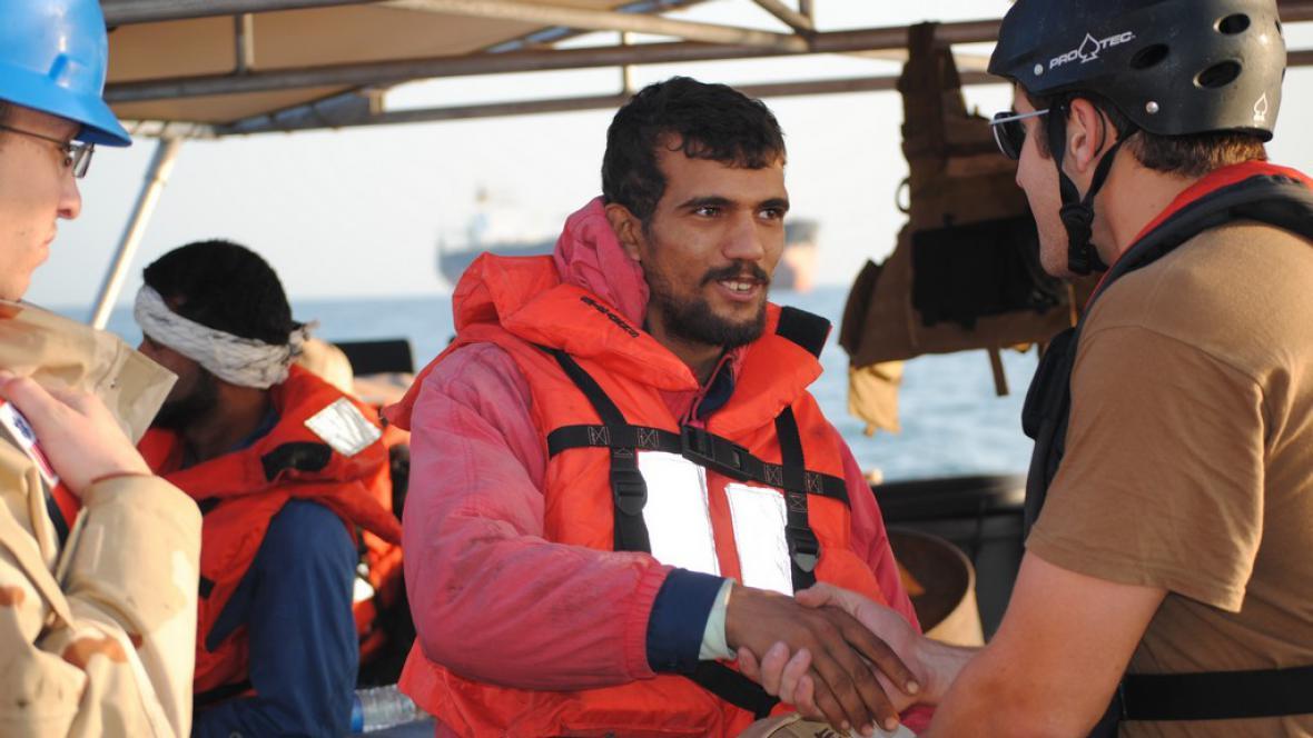 Záchrana íránských námořníků