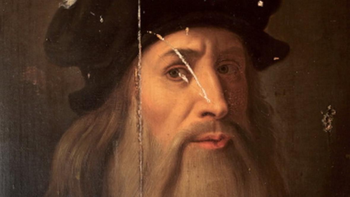 Možný autoportrét Leonarda da Vinciho