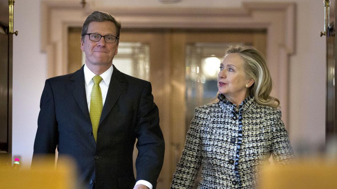 Hillary Clintonová a Guido Westerwelle