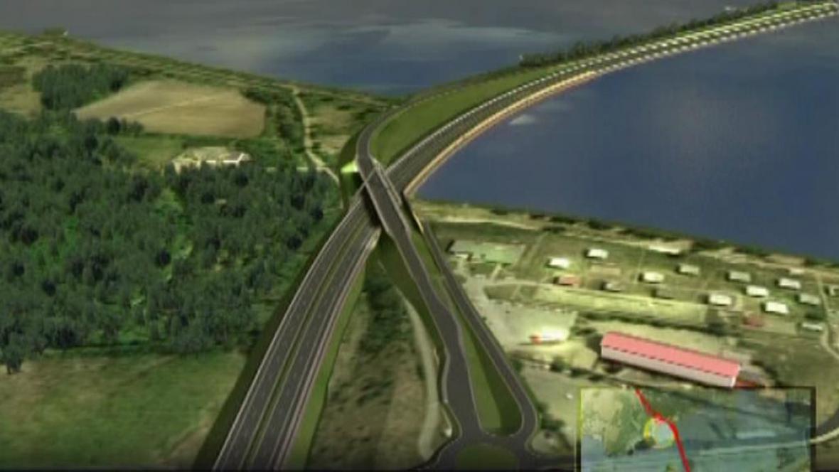 Vizualizace dálnice D8