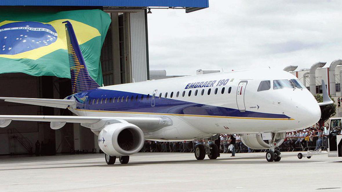 Světová trojka na trhu s letadly - brazilský Embraer