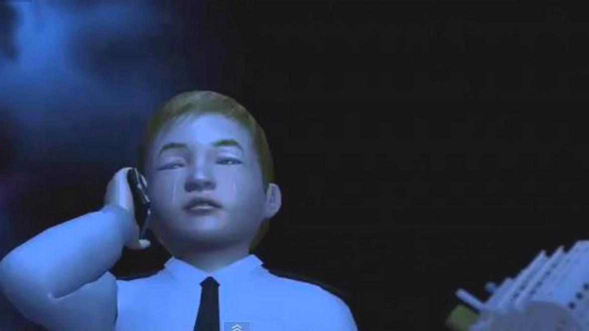 Kapitán Schettino jako brečící dítě