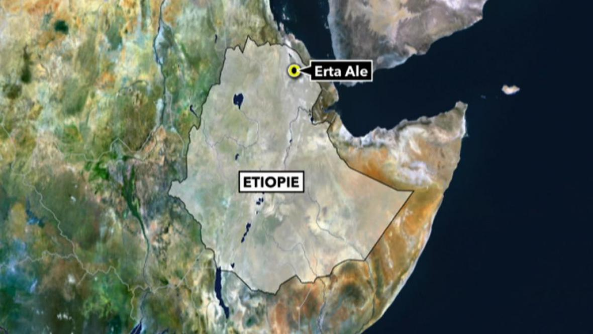 Erta Ale na mapě Etiopie