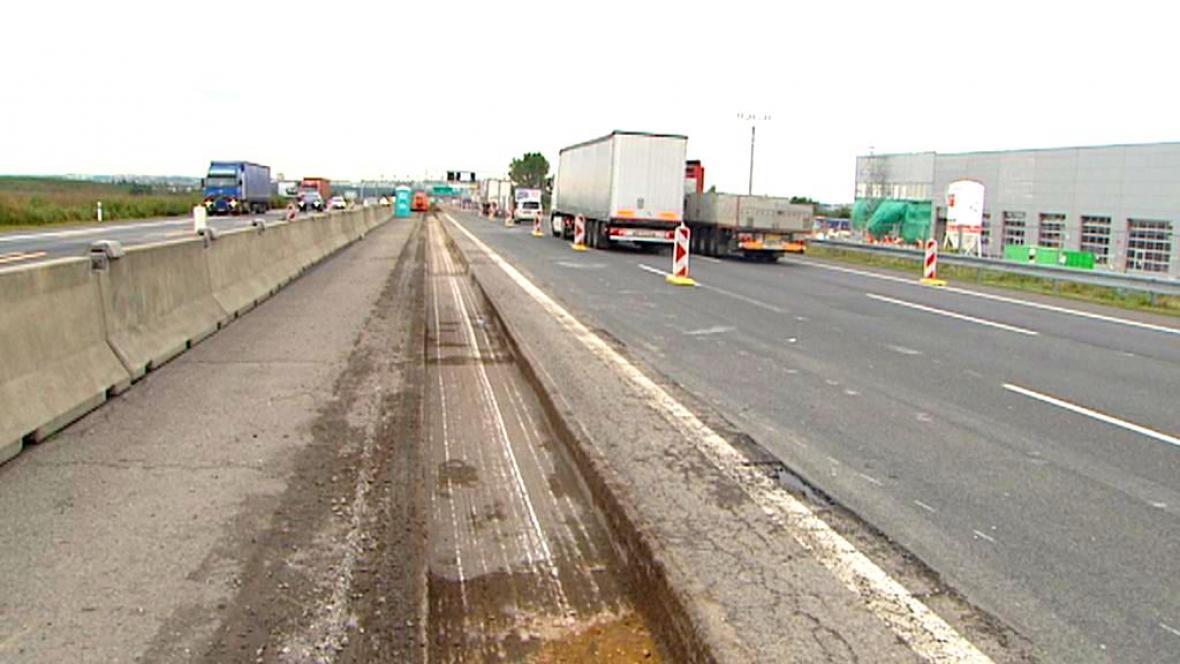 Zúžení na dálnici D1