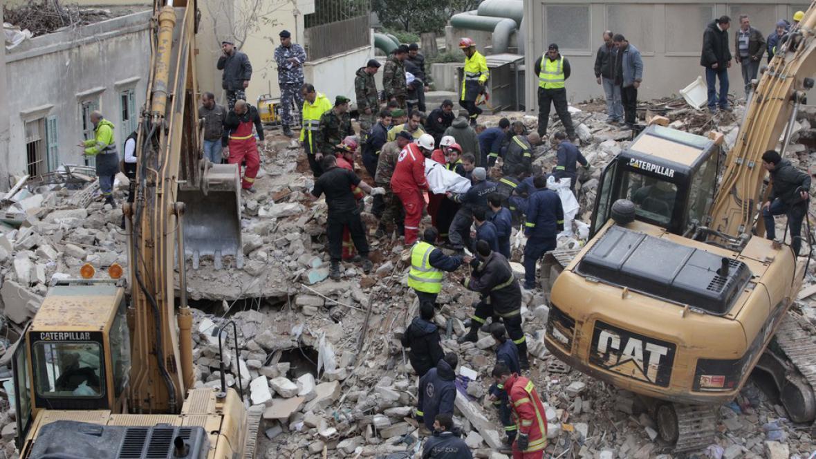 Zřícený dům v Bejrútu