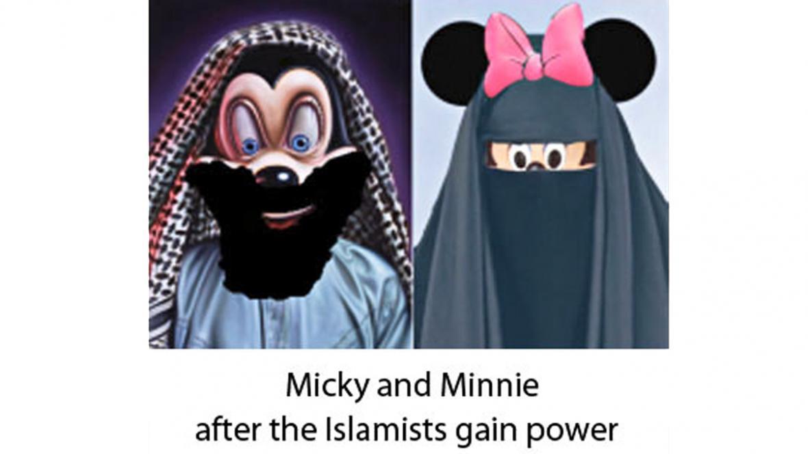 Mickey a Minnie po převzetí moci islamisty