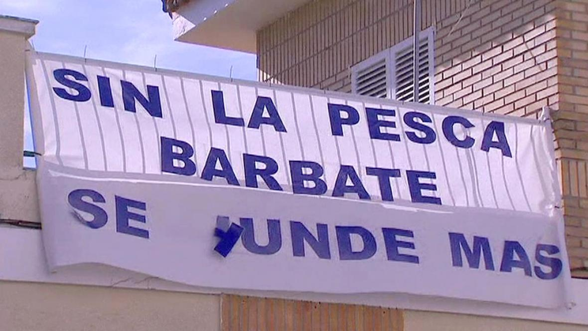 Protesty španělských rybářů