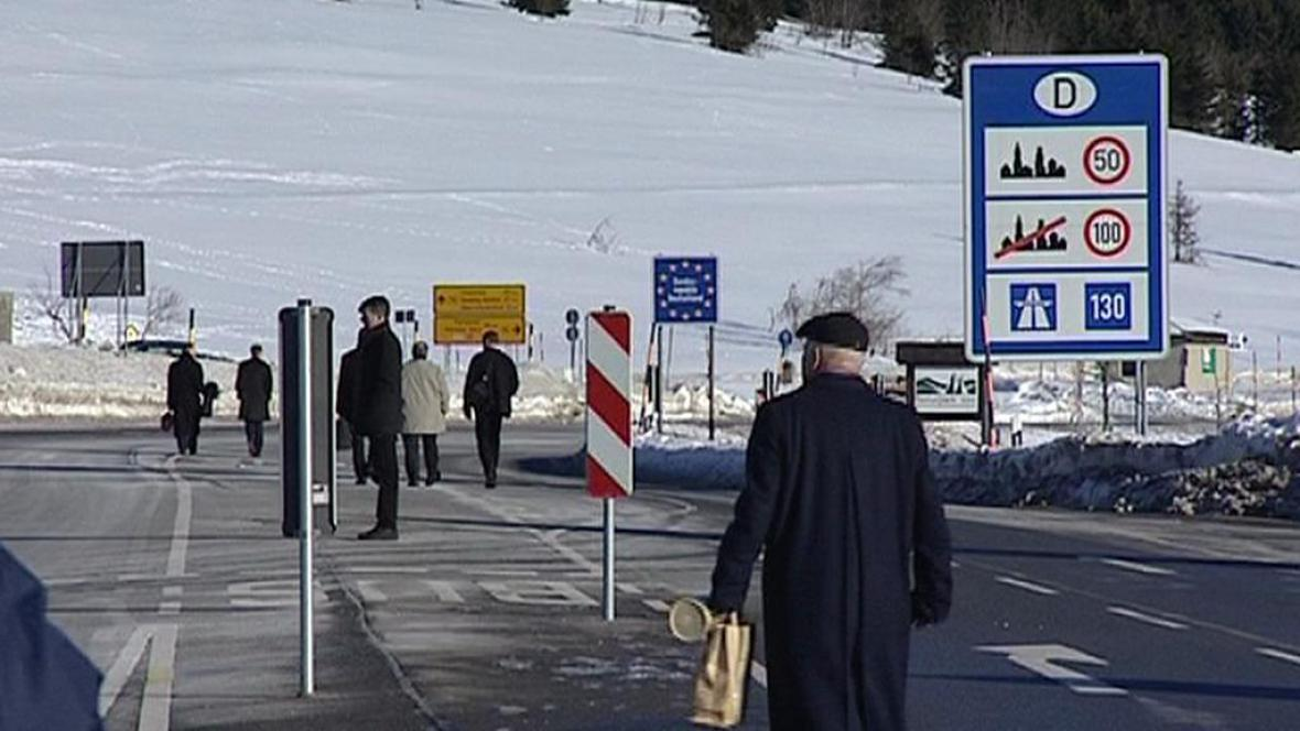 Turisté v Krušnohoří