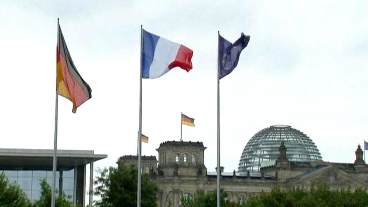 Vlajky tahounů EU - Německa a Francie