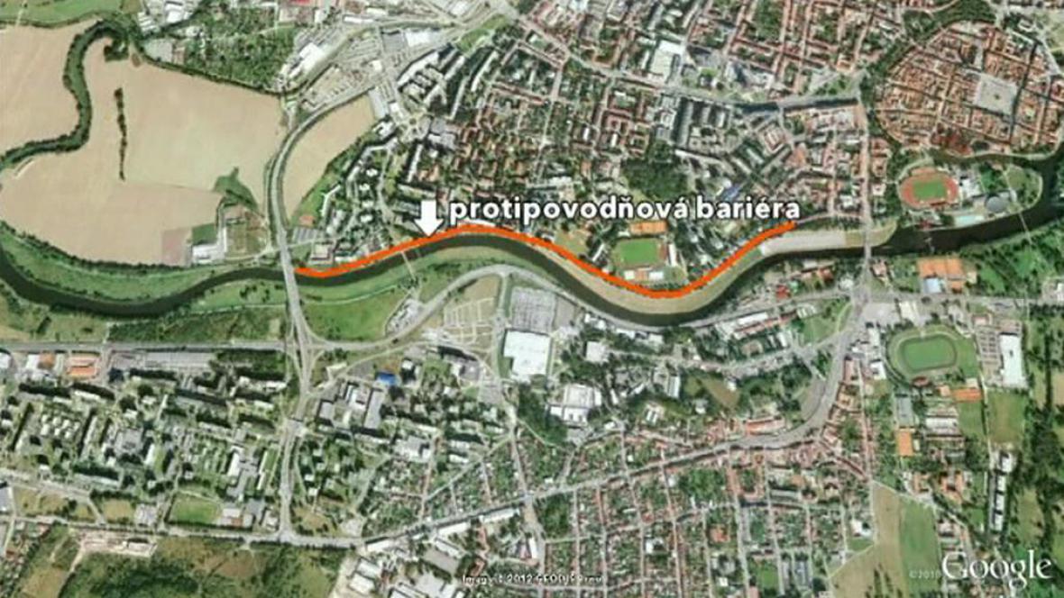 České Budějovice ochrání protipovodňová bariéra