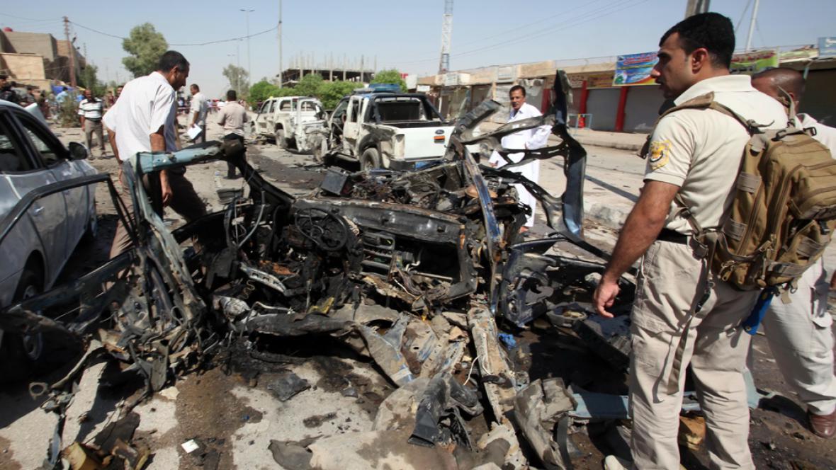 Následky exploze v Iráku