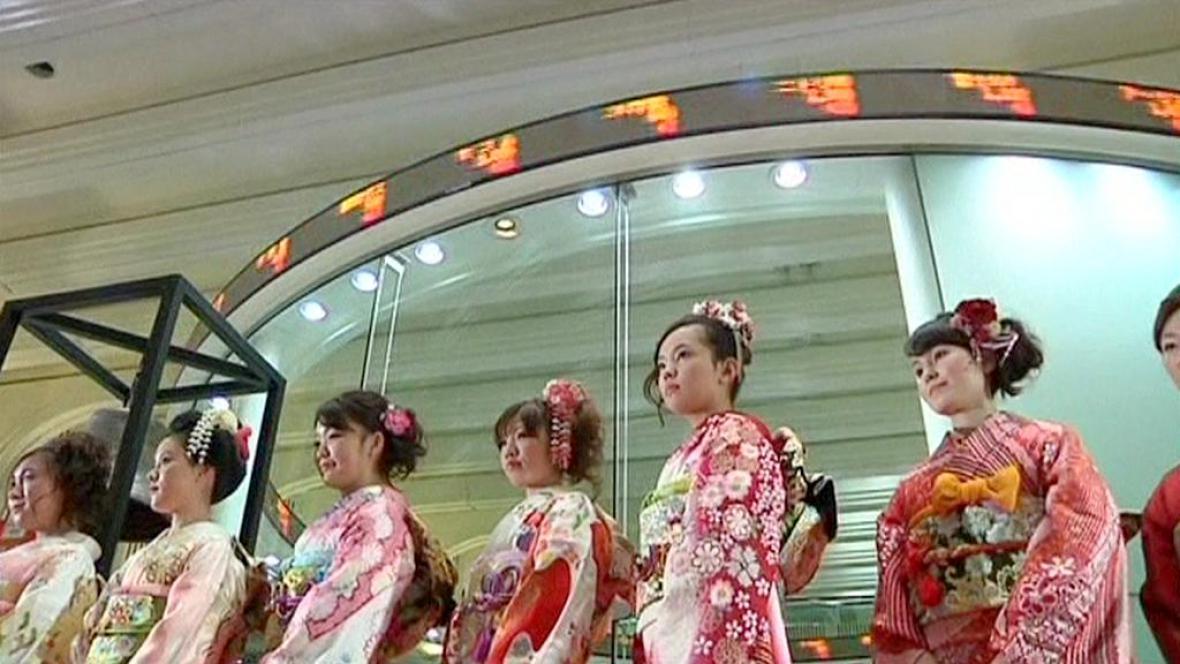 Nový rok na japonské burze