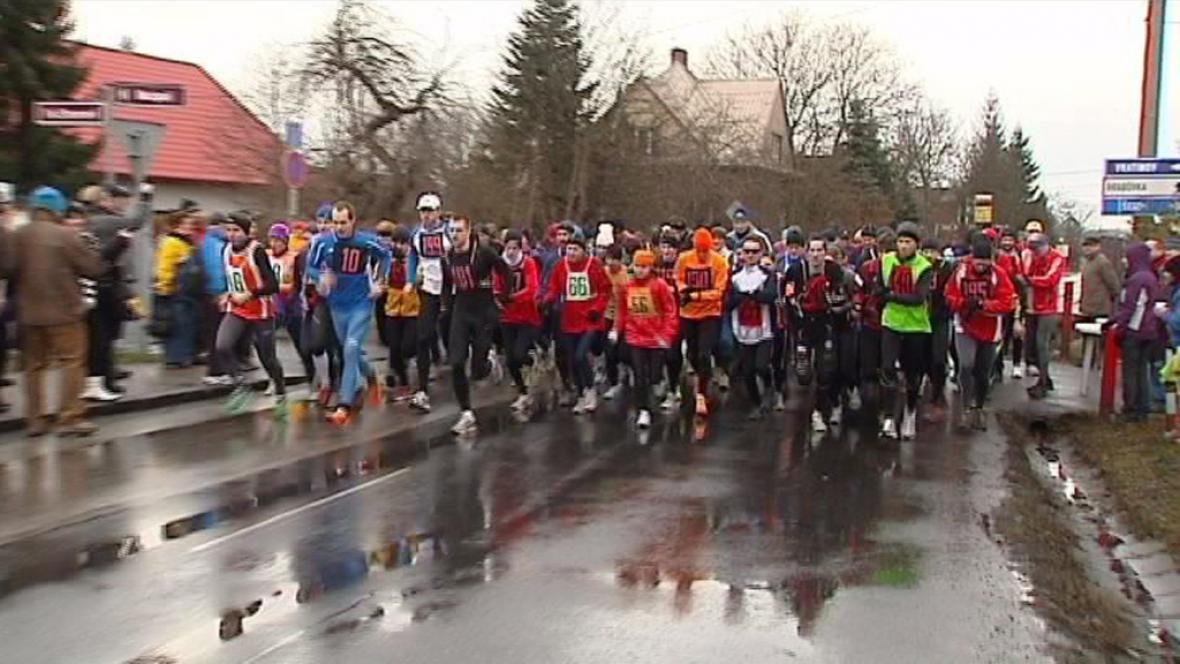 Silvestrovský běh v Ostravě Hrabové