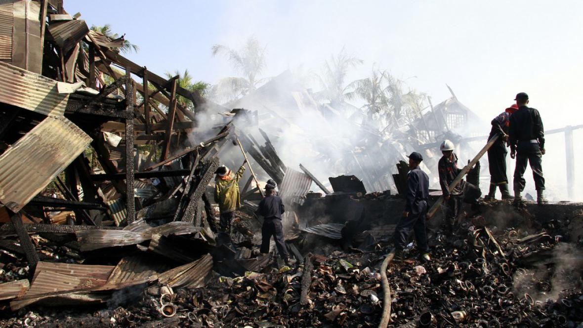 Požár v Rangúnu
