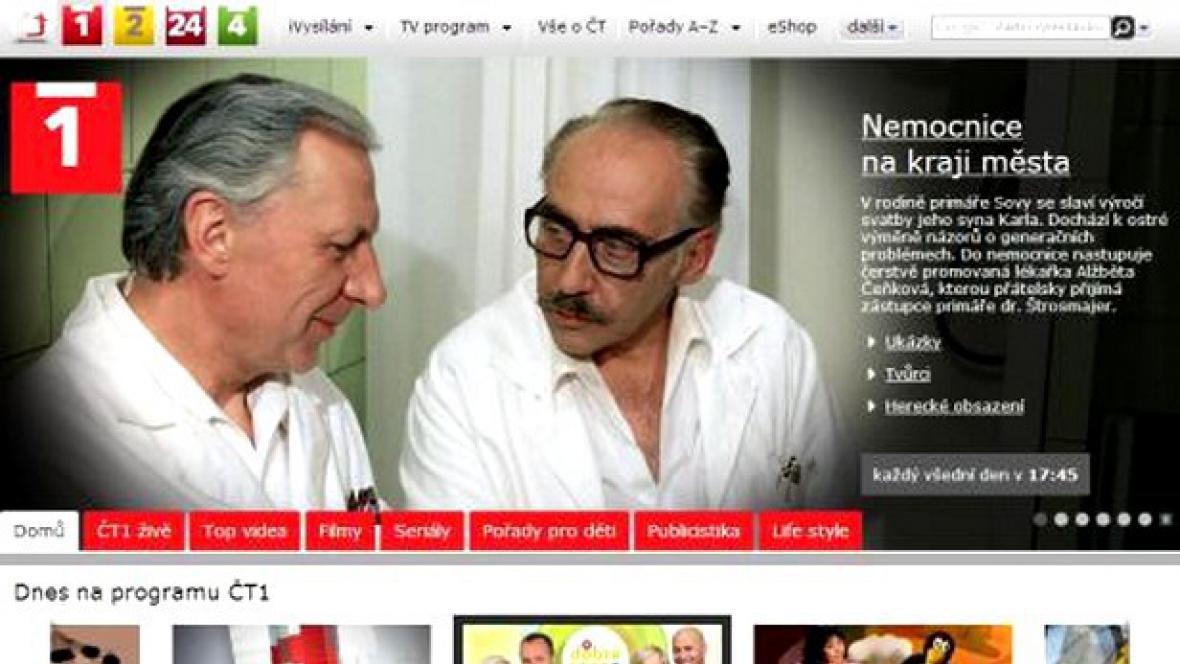 Nový web ČT1