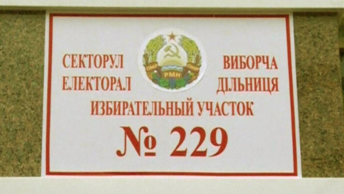 Volební místnost v Podněstří