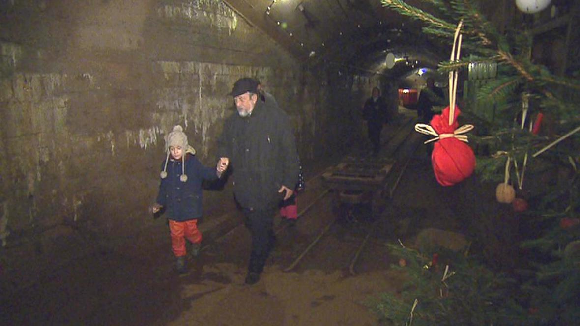Vánoční prohlídka Prokopské štoly v Příbrami