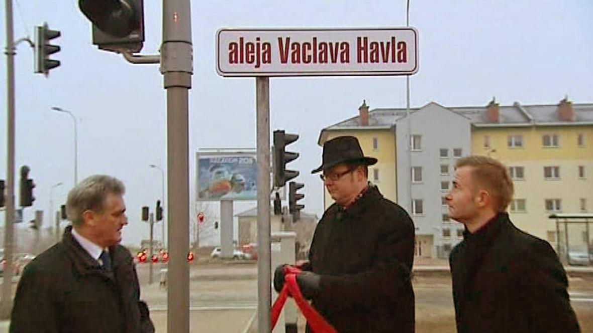 Třída Václava Havla v polském Gdaňsku