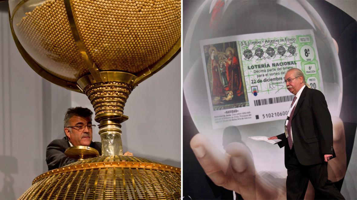 Losování španělské loterie El Gordo