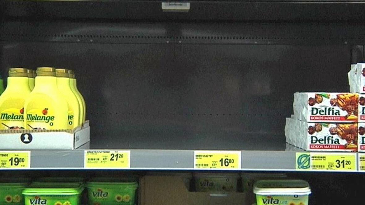 V Norsku došlo máslo