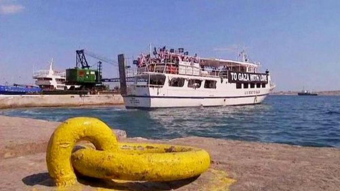 Loď mířící do Gazy