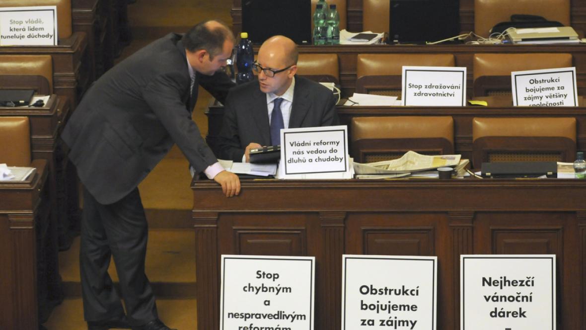 Obstrukce sociální demokracie ve sněmovně