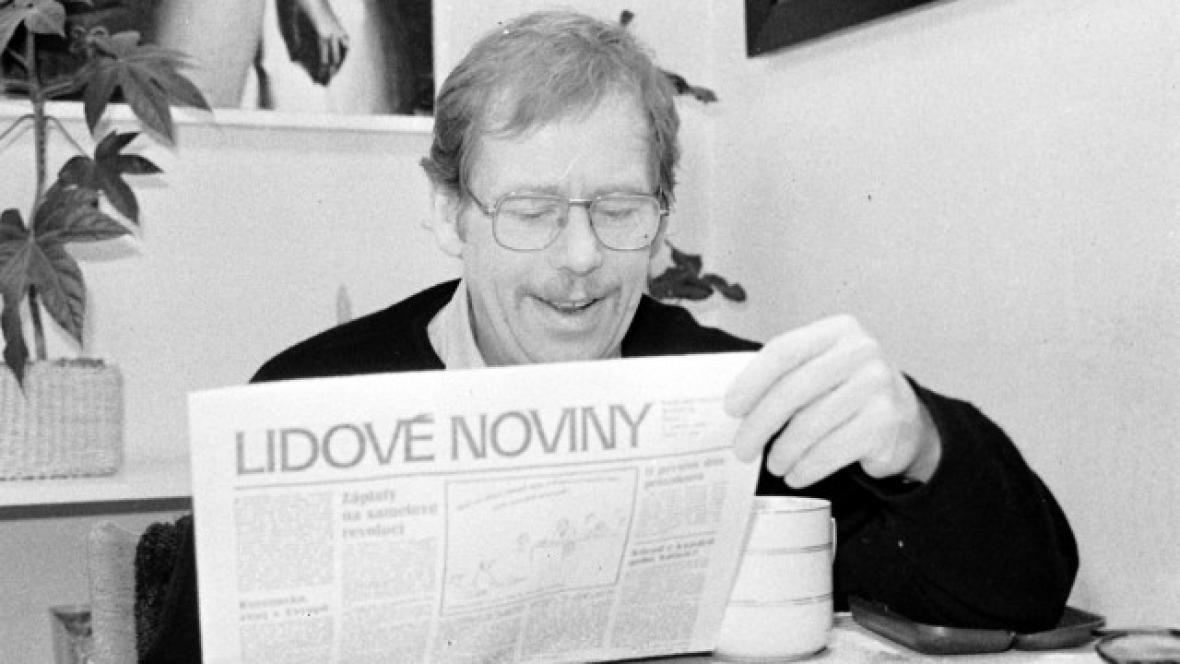 Václav Havel v roce 1990