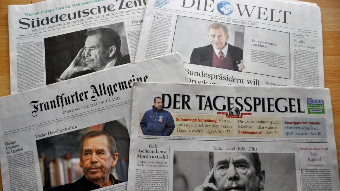 Německé deníky píší o Havlovi