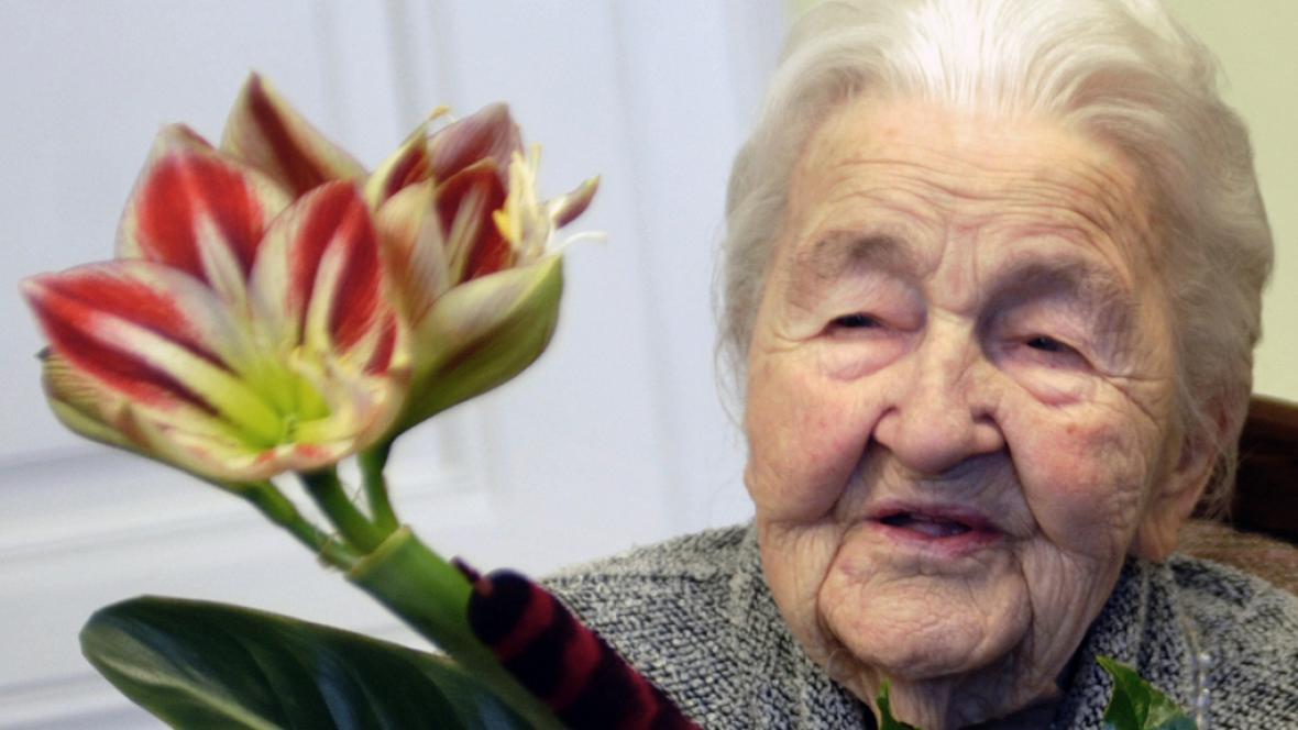 Marie Fišerová slaví 107. narozeniny