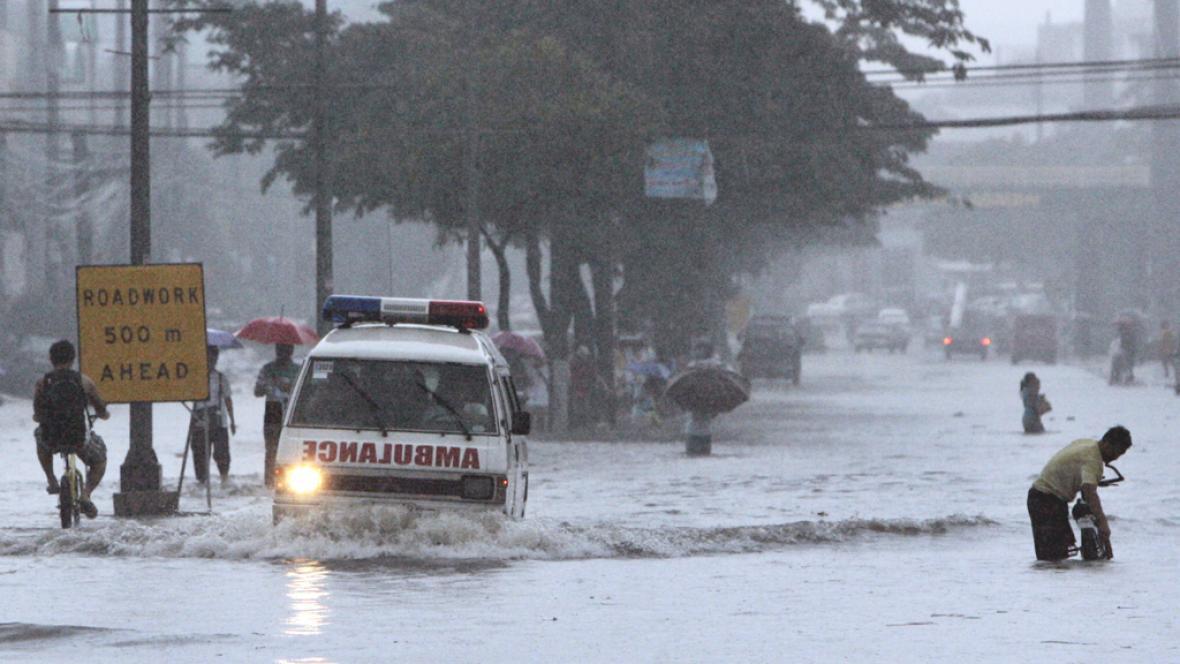 Manila pod vodou