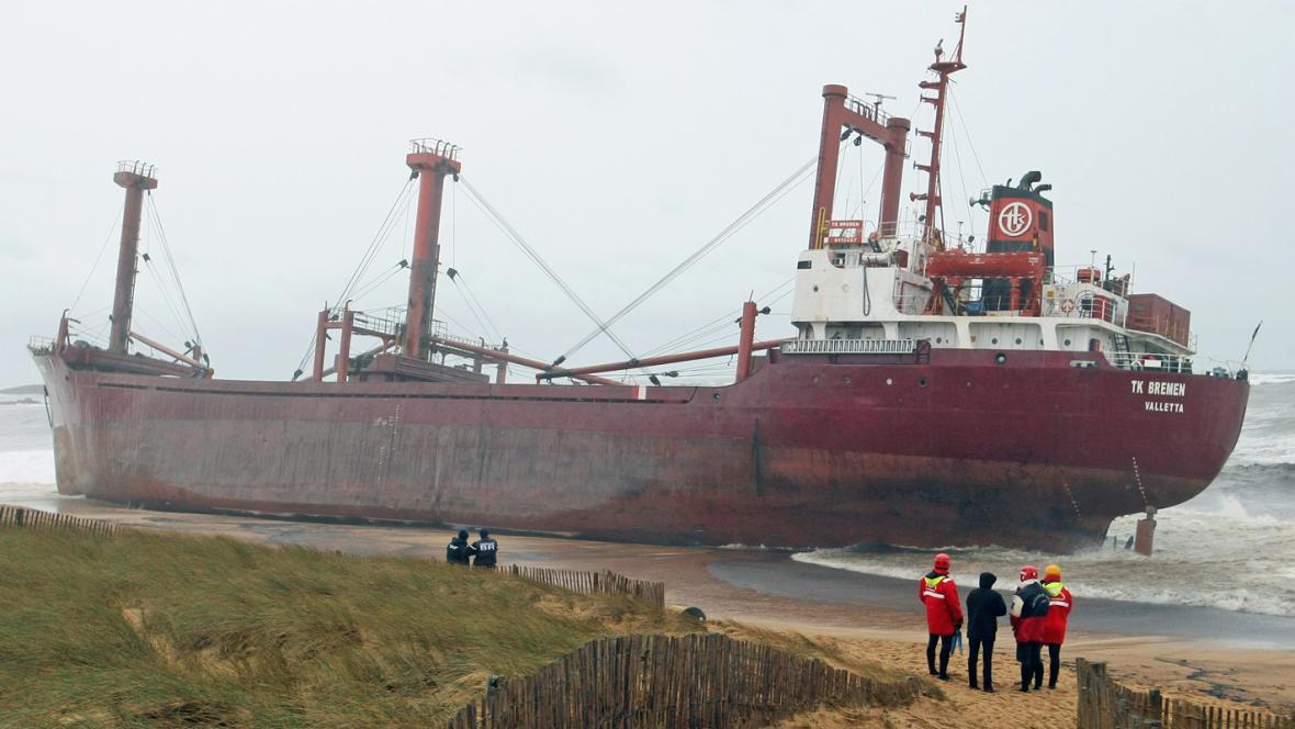 Ztroskotaná loď TK Bremen