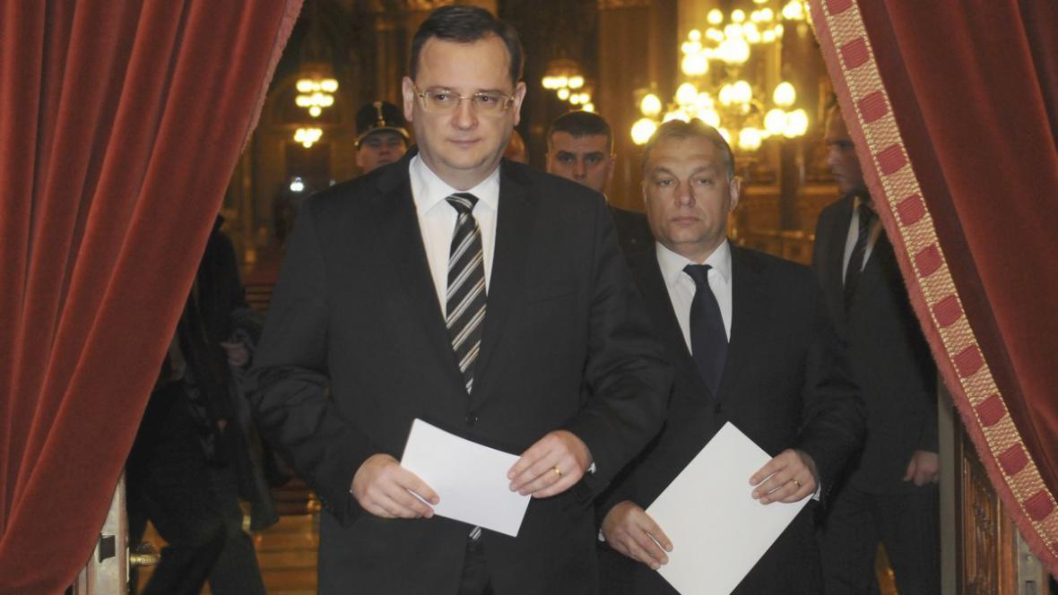 Nečas a Orbán